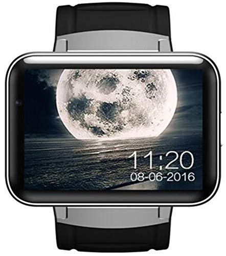 KDSFJIKUYB Smartwatch DM98 Bluetooth Smart Uhr 2.2 Zoll Android OS 3G Smartwatch Telefon MTK6572 Doppelkern 1,2 GHz 512 MB RAM 4 GB ROM Kamera GPS-Uhr, Silber