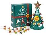 Chupa Chups Árbol de Navidad, Caramelos con palo de sabores surtidos, 50 unidades de 6 gr. (Total: 300 gr.)