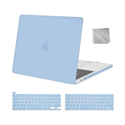 MOSISO Compatibile con MacBook PRO 13 Pollici Case 2020-2016 A2338 M1 A2289 A2251 A2159 A1989 A1706 A1708, Custodia Rigida in Plastica&Tastiera Cover&Pulire Il Panno, Airy Blue