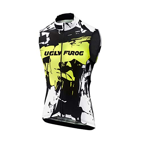 Uglyfrog HDZRMJM02 Radsport Trikots Radweste MTB Racing Herren Ärmellos Sport & Freizeit Shirts Cycling Westen Breathable Winter with Fleece Warm Style