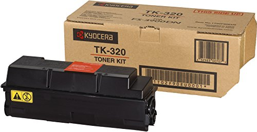 Kyocera TK-320 Toner Schwarz. Original Tonerkartusche 1T02F90EUC. Kompatibel für ECOSYS FS-3900DN und FS-4000DN