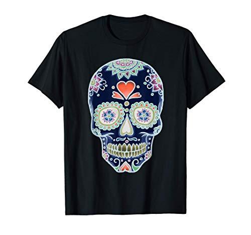 Calavera de azúcar mexicana Camiseta