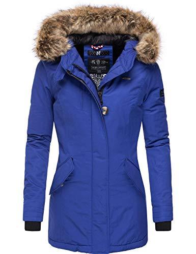Navahoo Damen Winterjacke Wintermantel Nisam Blue Jean Gr. S