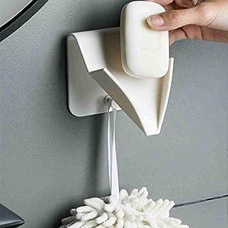 ソープディッシュ 創意的な石けん箱は穴を開けずに水肥石けん架浴室の多機能棚プラスチック(2個入り)