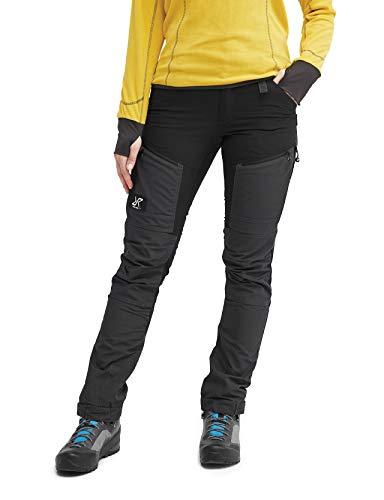 RevolutionRace Damen GPX Pro Pants, Hose zum Wandern und für viele Outdoor-Aktivitäten, Jet Black, 40