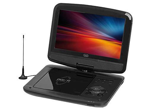 Trevi DVBX 1418 HE Lettore DVD Portatile con Display 9 Pollici, Decoder Digitale Terrestre DVB-T2, USB, SD, Batteria Ricaricabile e Cavo Accendisigari