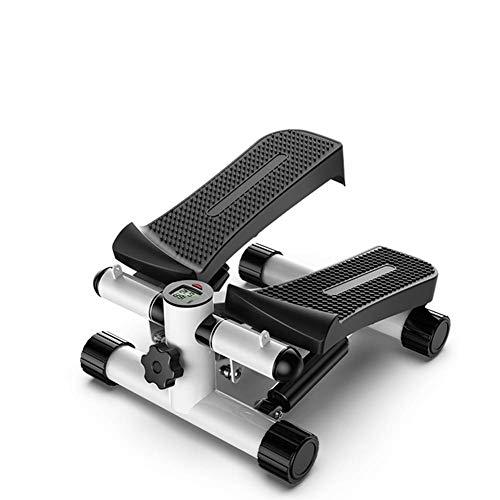 2In1 Twister Stepper Met Power Ropes -Swing Stepper & Sidestepper voor beginners en gevorderde gebruikers, Hometrainer met instelbare weerstand, zwart