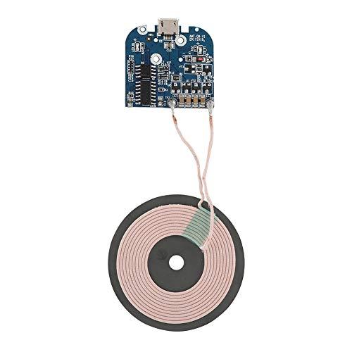 Bewinner Módulo Transmisor de Cargador Inalámbrico Qi-75% de Eficiencia de Carga-para Todos Los Teléfonos Estándar Qi - Protección de Niveles Múltiples - Piezas de Cargador Inalámbrico DIY