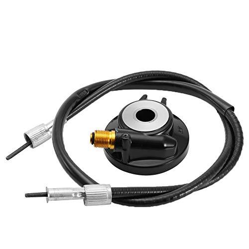 Engranaje impulsor del velocímetro, Scooter Universal 12mm Engranaje impulsor negro Engranaje impulsor del velocímetro con Cable apto para piezas de scooter GY6 50cc 150cc