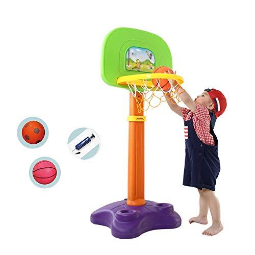 XZYB-lqj Songmin Kinder Basketballkorb Höhenverstellbar 120-165 cm Innen Außen Sport Eltern-Kind-Spielzeug Ab 3 Jahren 3 Farben Basketball-System (Color : C)
