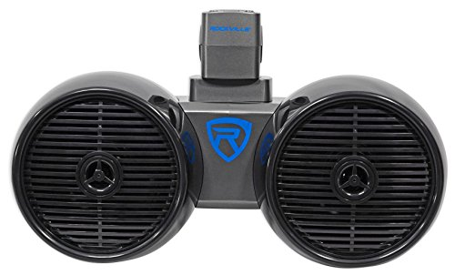 Rockville DWB65B Dual 6.5' Black 600 Watt Marine Wakeboard Tower Speaker System