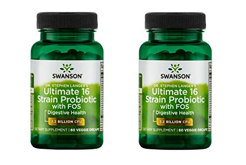 Swanson Dr. Stephen Langer's Ultimate 16 Strain Probiotic with Fos 60 Veg Caps