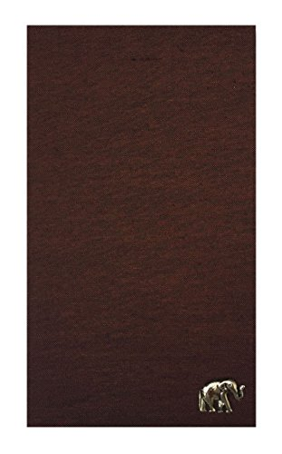 Home & Kitchen Brown Silk Blend Guest Check Presenter, Check Book Holder for Restaurant, Checkbook Cover, Check Pad Holder, Waitstaff Organizer, Server Book for Waiters (With Plastic Cover)