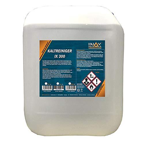 INOX® IX 300 Motor-Kaltreiniger, 10 Liter - Reinigungsmittel-Konzentrat für KFZ-Motoren und KFZ-Teile gegen Öle, Teer und Fette
