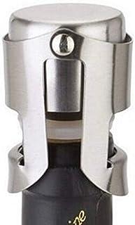 2 Packs Universal Wine Bottle Stopper 430 Stainless Steel Champagne Sparkling Wine Bottle Plug Sealer Preserver Bar Tools