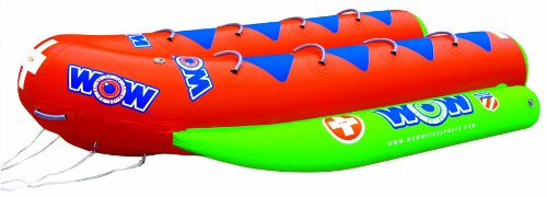 WOW World of Watersports Resort Sports Closed Bow Banana Boat 8 Rider Inflatable Towable Boat for Boating, 12-8030