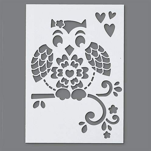 efco Stencils, Kunststoff, Weiß, 21x14.8x0,1 cm