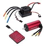 GoolRC S3674 2650KV Sensorless Brushless Motor 120A Brushless ESC and Program Card Combo Set for 1/8 RC Car Truck