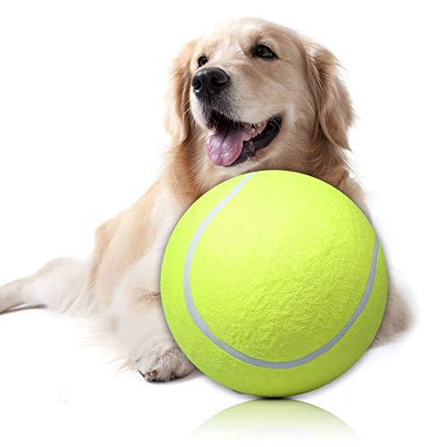 N-K Riesentennisball 24 cm Tierspielzeug Signature Mega Jumbo Großer Tennisball Langlebig und nützlich Praktisches Design und langlebig