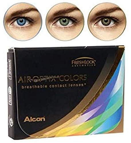 Alcon Air Optix Colors, grey, Monatslinsen weich, 2 Stück / BC 8.6 mm / DIA 14.2 / -0.75 Dioptrien