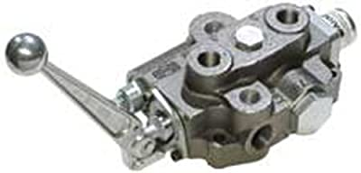 """CROSS Manufacturing 132269 SBA Series Cast Iron Single Spool Monoblock Hydraulic Directional Control Valve, 3-Position, 4-Way, Closed Centered, 3/4"""" x 3/4"""" x 1/2"""" NPT Female, 2500 psi, Grey by CROSS Manufacturing"""