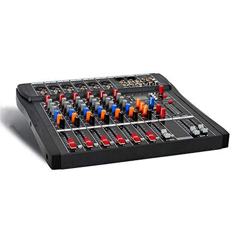 TRF Estudio de Sonido Junta Mezclador de Audio, DJ Profesional Mesa de Mezclas con Interfaz USB - 6 Canales Compatible con Bluetooth múltiple Música Mods - para la mayoría de los Dispositivos