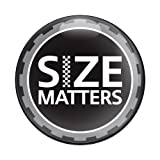 GoBadges CD0481 Size Matters - 3' Magnetic Grill Badge/UV Stable & Weather-Proof/Works Grill Badge Holder