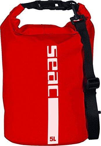 SEAC Dry Bag Bolsa Estanca Impermeable, Unisex Adulto, Rojo, 20 litros