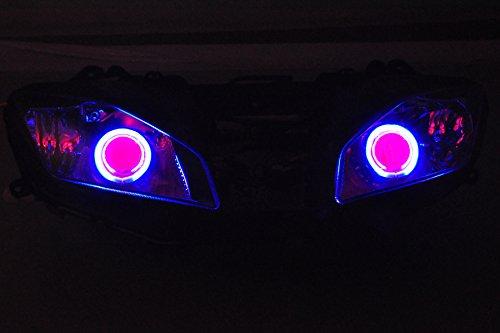 Gowe ABS Projektor Lampen Scheinwerfer blau Angel Eye + Red Devil Eye für Yamaha YZF R62008–201220082009201020112012[dd10-br]