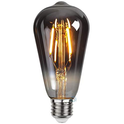 Flairlux LED Plain Smoke Filament Lampe mit stylischem soft Glow, perfekt zur dekorativen Beleuchtung (Edison ST64 E27, Warmweiß, 2100 K, 1.8W)