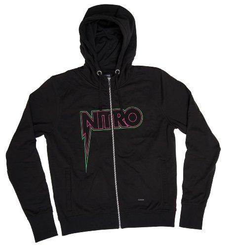 Nitro Snowboards Herren Kapuzenjacke Shocker Embroidery Zip Hoodie, Black, XL