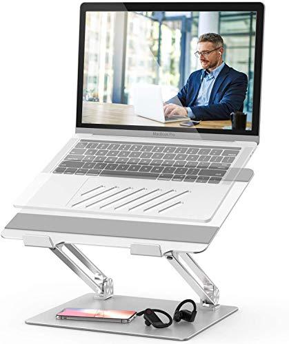 Laptopständer Einstellbar Notebook Ständer mit Heat-Vent Multi-Angle Kompatibel für 10-17 Zoll Laptops einschließlich MacBook Pro/Air, Lenovo, Samsung, Dell, HP (Silber)