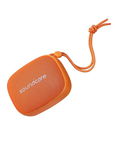 Soundcore Icon Mini Bluetooth luidspreker van Anker, kleine en vederlichte Bluetooth luidspreker met IP67 waterbeschermingsklasse, 8 uur accuvermogen, compact design voor reizen en wandelen oranje