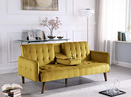 US Pride Furniture Sofabed, Vivid Yellow