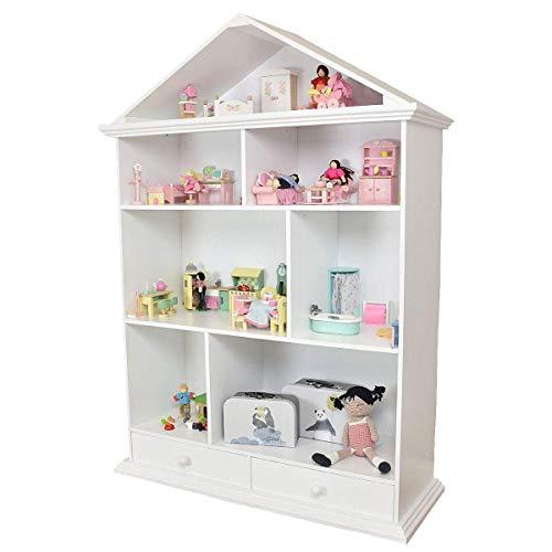 Meppi Puppenhaus Nesthäkchen aus Holz XXL - Regal fürs Kinderzimmer in Puppenhaus-Form
