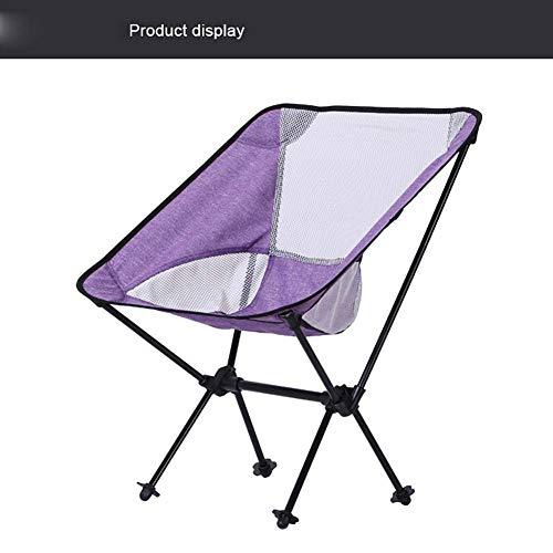 ZJING Silla Plegable para Acampar al Aire Libre de Color púrpura Silla...