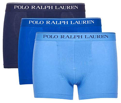 Polo RALPH LAUREN 3P boxershorts katoen blauw RLU_714513424010