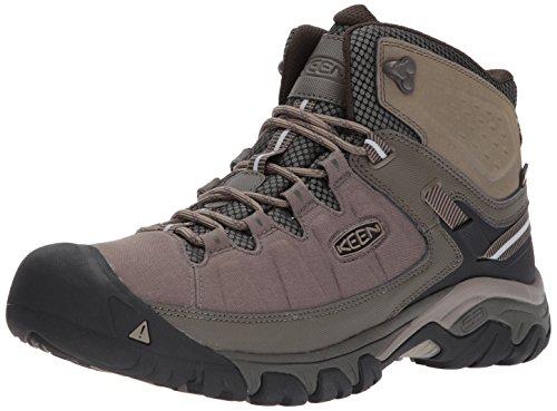 KEEN Men's Targhee EXP MID WP Hiking Boot, Bungee Cord/Brindle, 9 M US