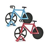 Gwotfy Bicicletta Ruota Tagliapizza, 2pcs Tagliapizza Acaciaio Inox Tagliapizza Bicicletta, per la casa e la Cucina, Raduno di Amici