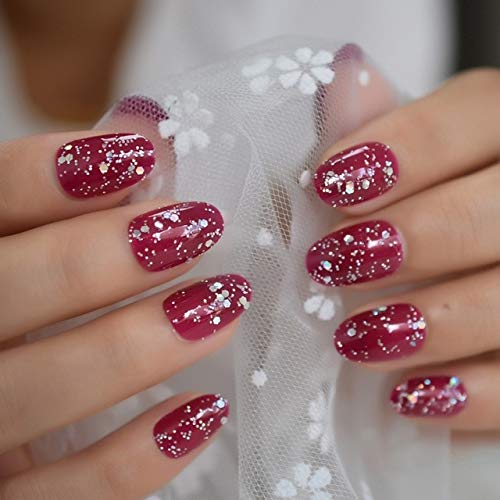 DKHF Valse nagels Roze witte nepnagels Vierkante druk op nagels voor volledige dekking Draag vingernagel