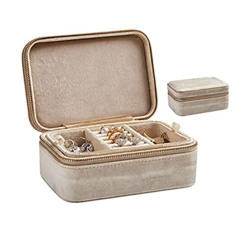 Panduo XYJ Joyero de franela retro con caja de joyería doble caja de joyería Jade pulsera collar caja de almacenamiento niña corazón (color: A) (color: C)