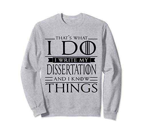 Funny Grad Student Sweatshirt
