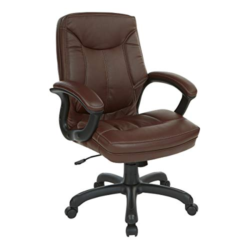 Office Star Bonded Leather Seat and Mid Back Executive
