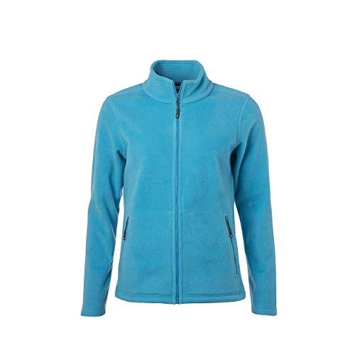 James & Nicholson - Damen Fleece Jacke mit Stehkragen im Klassischen Design (3XL, Turquoise)