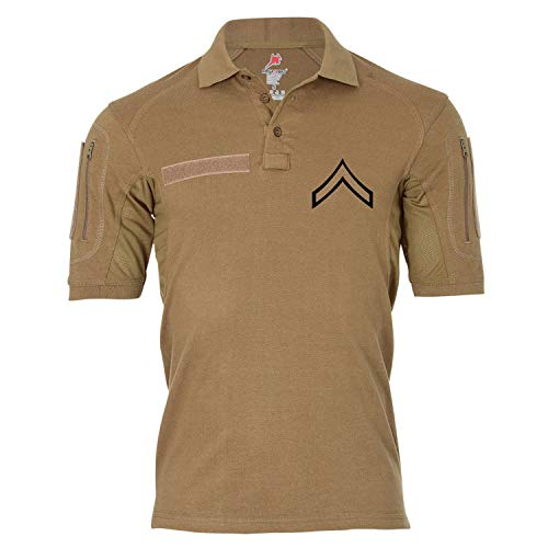 Tactical Poloshirt Alfa - Private First Class United States Marine Corps Dienstgrad USA #19044, Größe:4XL, Farbe:Khaki
