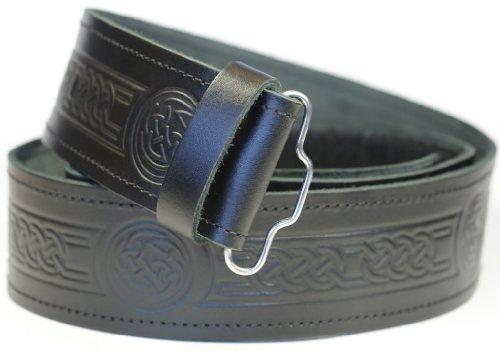 Ceinture de kilt celtique en cuir - Homme - L, Noir