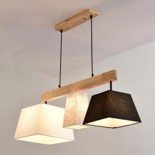 Platz Pendelleuchte Klassisch Stoff Lampenschirm 3-Flammig Gute Qualität Höhenverstellbar Hängeleuchte Modern Design Wohnzimmer Esszimmer Schlafzimmer Hängelampe E27 Sockel L93cm * W30cm