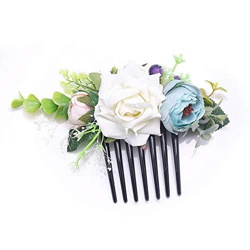 Beryuan Peigne à cheveux en forme de rose