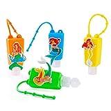 Contenidor Desinfectant Nens,Ampolles De Viatge per a Desinfectant Mans,Ampolles De Viatge Clauer,Contenidor Desinfectant per a Mans,Pots Emplenables *4pcs(Sirena)
