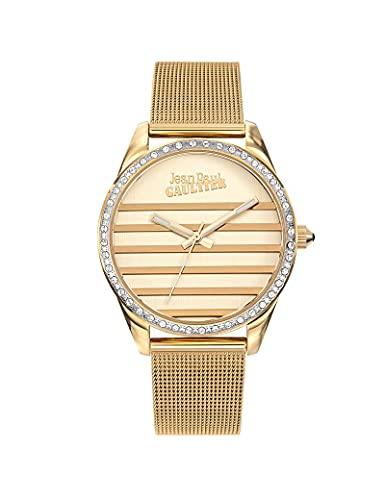 Reloj moderno de malla Milanesa para mujer, color dorado